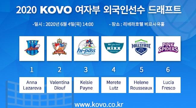 Kore'de oynayacak bayan oyuncular belli oldu...