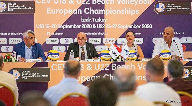 U18 ve U22 Plaj Voleybolu Avrupa Şampiyonaları'nın Tanıtım Toplantısı Yapıldı