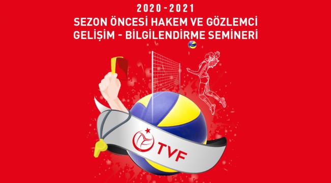 2020-2021 Sezon Öncesi Hakem ve Gözlemci Gelişim-Bilgilendirme Semineri Duyurusu
