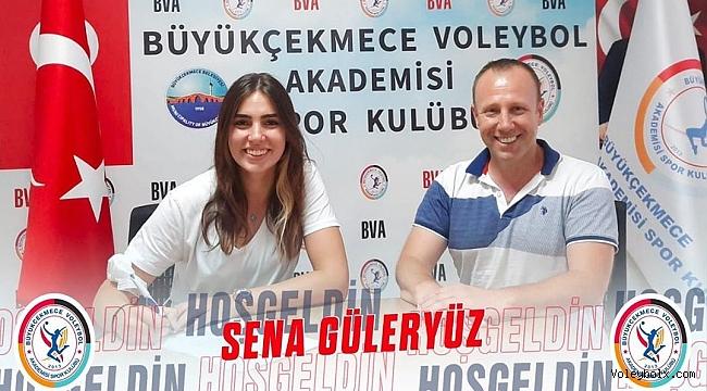 Sena Güleryüz, Büyükçekmece Voleybol Akademi'de..