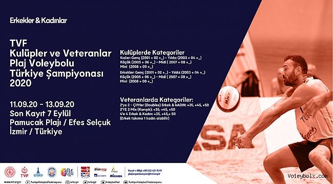 TVF Kulüpler ve Veteranlar Plaj Voleybolu Türkiye Şampiyonası Duyurusu