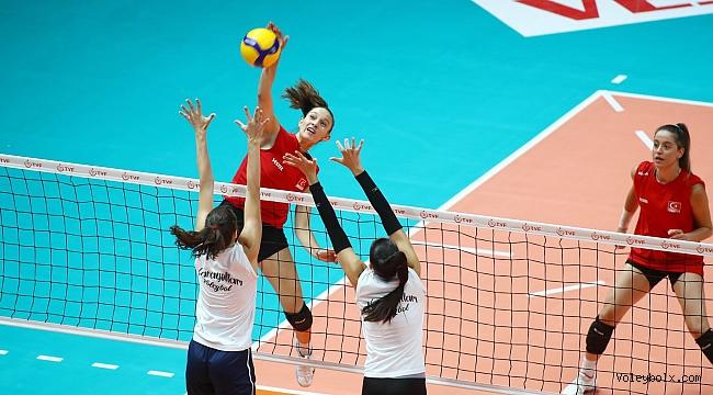 U19 Kız Milli Takımımız, Karayolları ile Hazırlık Maçı Oynadı