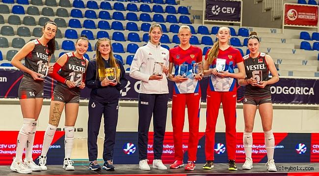 Ege, Pelin ve Özge, U17 Avrupa Şampiyonası'nda Rüya Takım'da