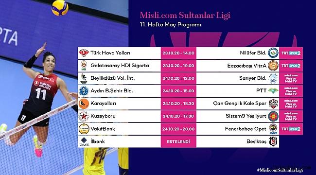 Misli.com Sultanlar Ligi'nde 11. Hafta Başlıyor