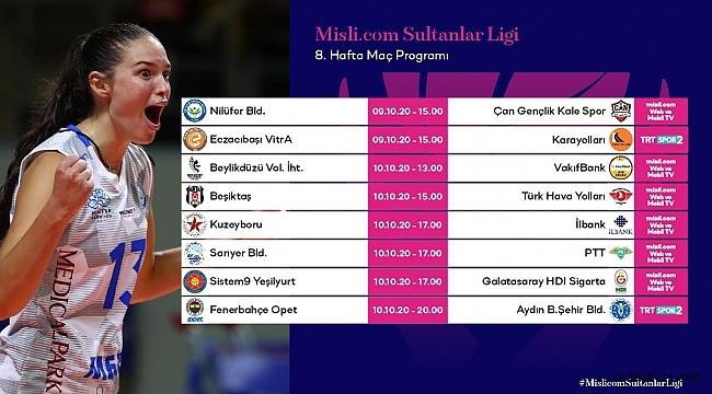 Misli.com Sultanlar Ligi'nde 8. Hafta Başlıyor