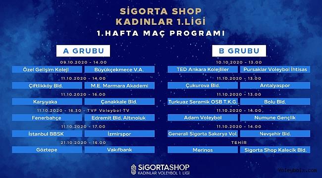 Sigorta Shop Kadınlar Voleybol 1. Ligi'nde 2020-2021 Sezonu Başlıyor