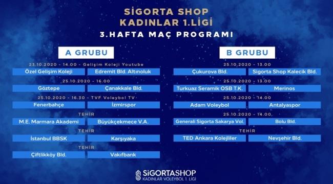 Sigorta Shop Kadınlar Voleybol 1. Ligi'nde 3. Hafta Başlıyor