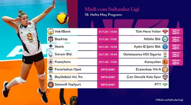 Misli.com Sultanlar Ligi'nde 18.Hafta Başlıyor
