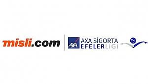 Misli.com, Axa Sigorta Efeler Ligi'nin resmi dijital yayıncısı oldu