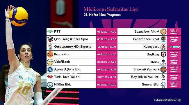 Misli.com Sultanlar Ligi'nde 21.Hafta Başlıyor