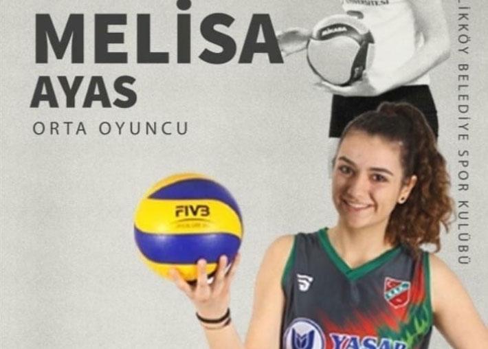 Melisa Ayas, yeniden Çiftlikköy Belediyespor'da...