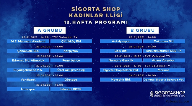 Sigorta Shop Kadınlar 1. Ligi'nde İkinci Devre Başlıyor