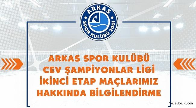 Arkas Spor, Şampiyonlar Ligi maçlarına katılamayacağını açıkladı