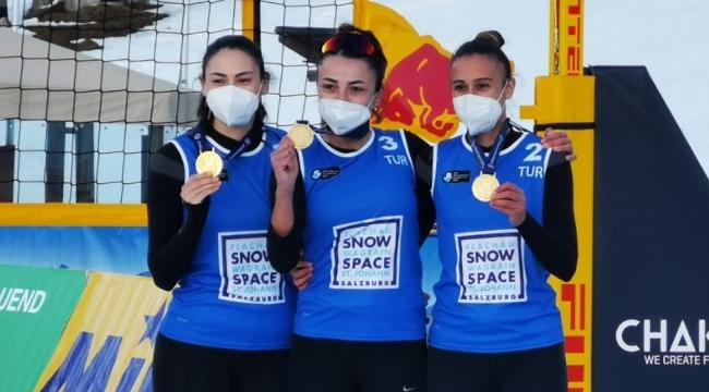Kar Voleybolu Milli Takımımız, Wagrain Etabı'nda Namağlup Şampiyon
