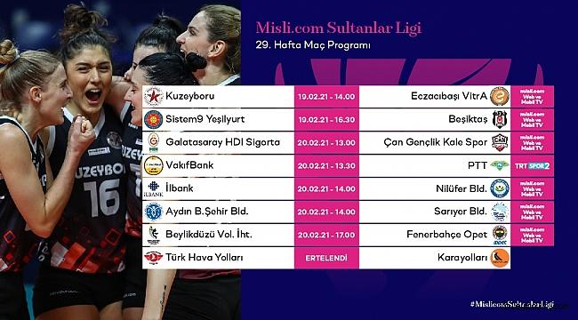 Misli.com Sultanlar Ligi'nde 29. Hafta Başlıyor