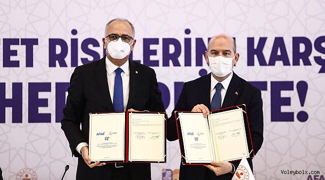 """AFAD ile 14 Spor Branş Federasyonu Arasında """"Afet Eğitim İşbirliği Protokolü"""" İmzalandı"""