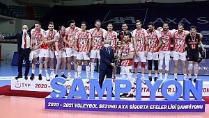 AXA Sigorta Efeler Ligi Şampiyonu Ziraat Bankkart