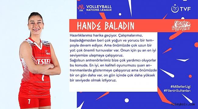 """Hande Baladın: """"Önümüzde çok uzun bir yol; çok önemli turnuvalar var"""""""