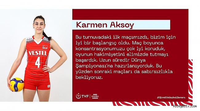 """Karmen Aksoy: """"Bizim için iyi bir başlangıç oldu"""""""