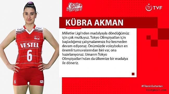 """Kübra Akman: """"Umarım Tokyo Olimpiyatları'ndan ülkemize madalya ile döneriz"""""""