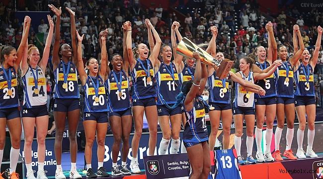 İtalya Kadın Voleybol Takımı, Avrupa şampiyonu