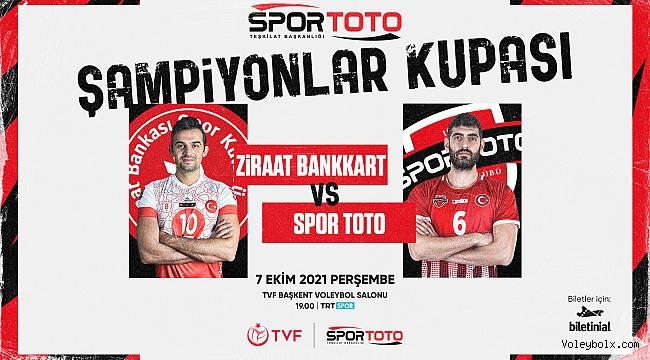 2021 Erkekler Spor Toto Şampiyonlar Kupası Sahibini Buluyor