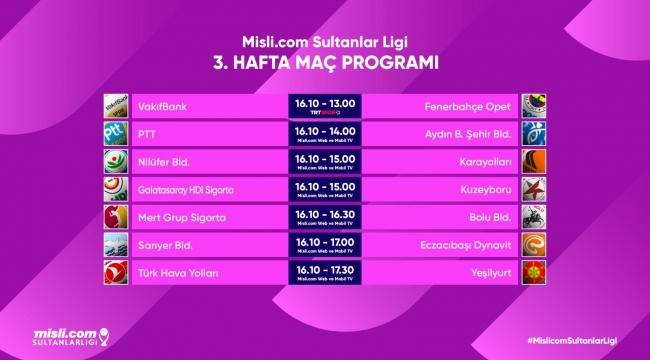 Misli.com Sultanlar Ligi'nde 3. Hafta Başlıyor