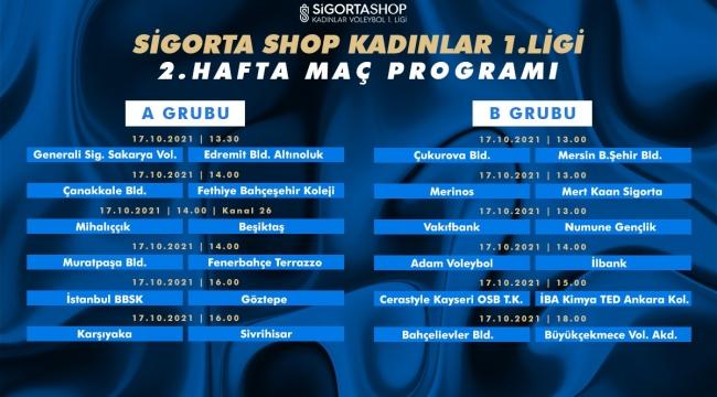 Sigorta Shop Kadınlar 1. Ligi'nde 2. Hafta Başlıyor