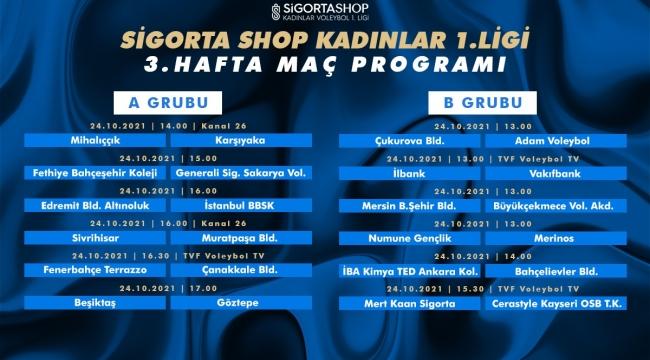 Sigorta Shop Kadınlar 1. Ligi'nde Üçüncü Hafta Başlıyor