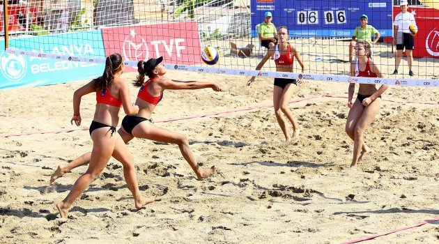 CEV Youth Beach Volleyball Continental Cup'ta İlk Gün Sona Erdi