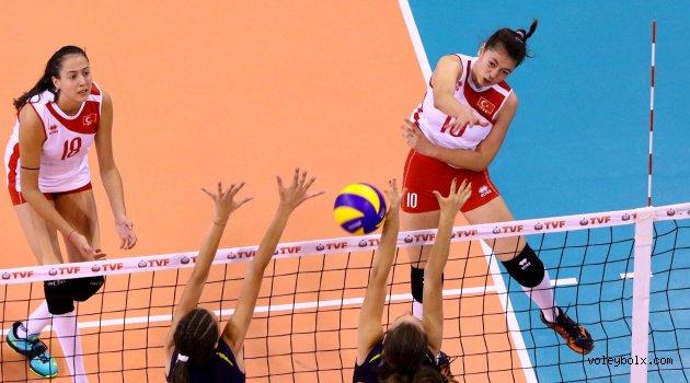 Küçük Kızlar Balkan Şampiyonası'nda iki galibiyet aldık