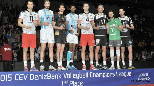 2015 CEV Erkekler Şampiyonlar Ligi'nin Rüya Takımı