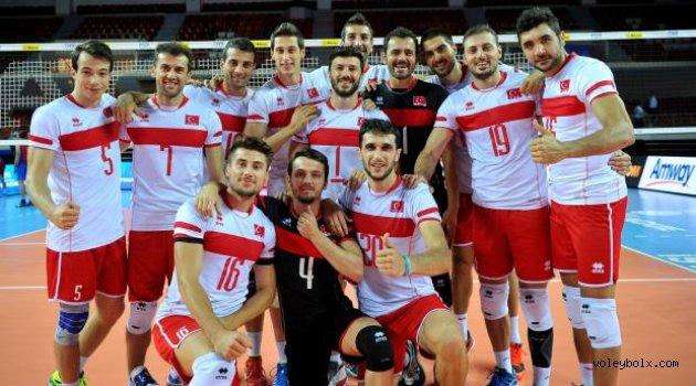 2015 FIVB Dünya Ligi'nde Porto Riko'yu mağlup ettik