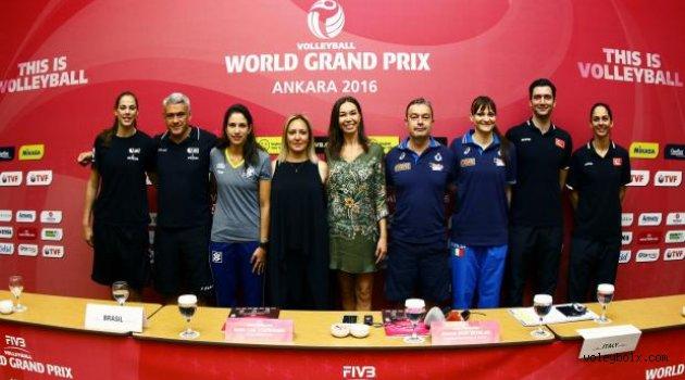 FIVB World Grand Prix 2016 Üçüncü Etap Karşılaşmaları Basın Toplantısı Ankara'da Yapıldı