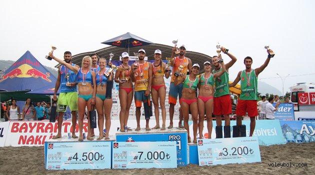 TVF Pro Beach Tour Hopa Grand Slam'de şampiyonlar belli oldu