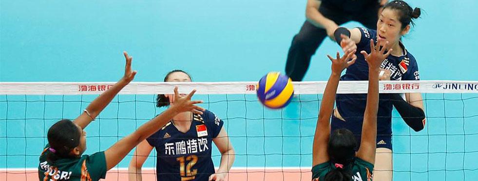 18. Asya Bayanlar Voleybol Şampiyonası'nda 2. maçlar oynandı...