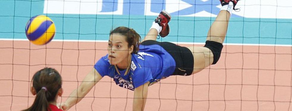 18. Asya Bayanlar Voleybol Şampiyonası'nda 3. maçlar oynandı...