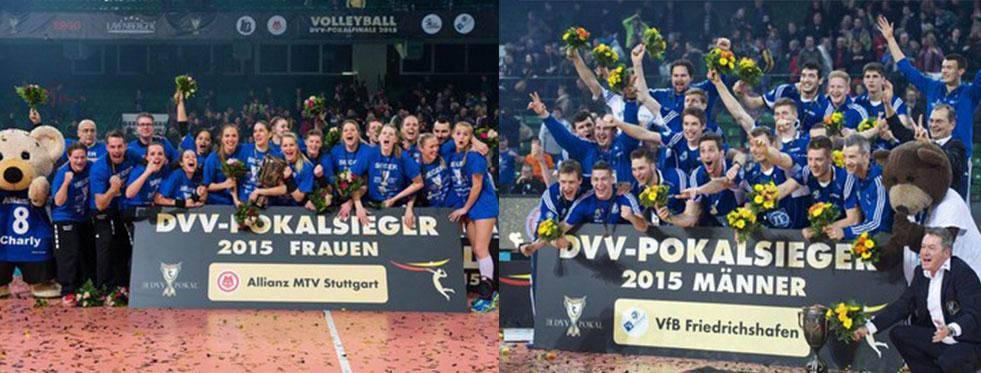 Almanya Kupası'nda Allianz MTV Stuttgart ve VfB Friedrichshafen şampiyon!
