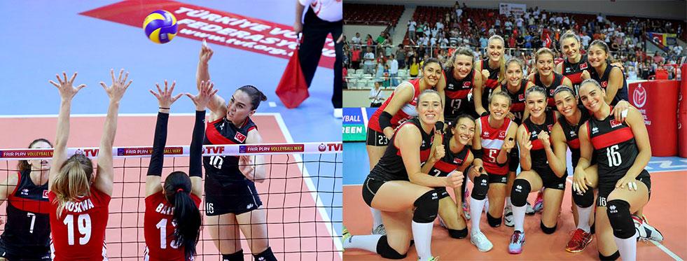Avrupa Ligi'nde bayanlarda Polonya'yı ilk maçta 3-0 yendik