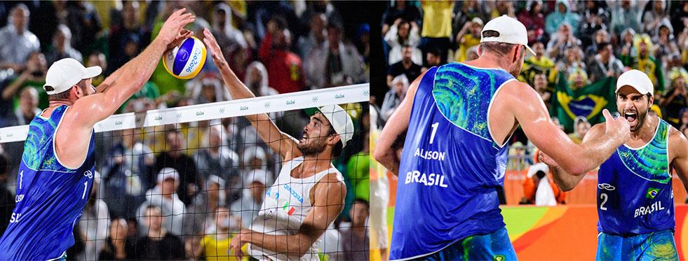 Rio plajlarında erkeklerin şampiyonu Alison - Bruno Schmidt