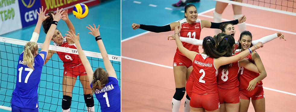 U16 Avrupa Şampiyonası'nda Rusya 3 - Türkiye 2